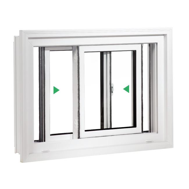 Fenêtre coulissante double PVC
