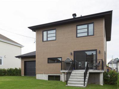 Projet avec porte patio en PVC